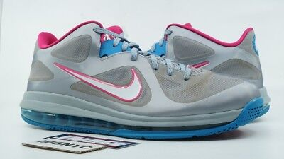 hot sale online 0bae7 e6435 Nike Air Max Lebron 9 Low Used Size 13 Wolf Grey Dynamic Fireberry  510811-002