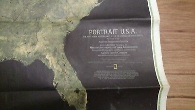 vintage national geographic portrait map of the United States photomosaic 1976