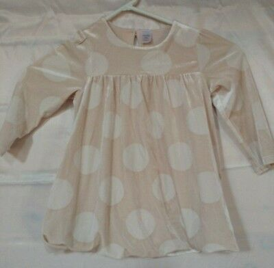 f0e666b9c8 Baby Gap girls sz 18 to 24 mos Bubble Hem Beige Circles Dress Party Occasion