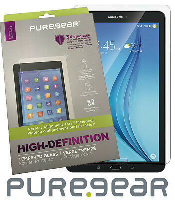 PureGear Tempered Glass Screen Protector with Tray for Samsung Galaxy Tab E 8.0