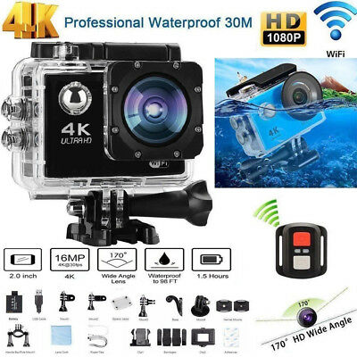 4K Ultra HD TELECAMERA SPORT CAMERA FULL HD Gopro SUBACQUEA 30MT SPORT ACTION