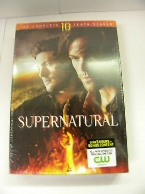 Supernatural The Complete Tenth Season DVD 2015 6-Disc Set Includes Digital NEW