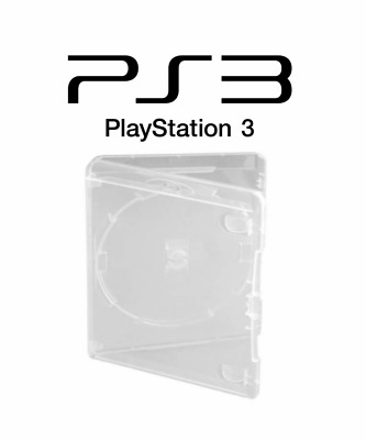 PS3 Empty Game Case Box Sony Playsation 3 Official CLEAR/GREY/RED/BLACK