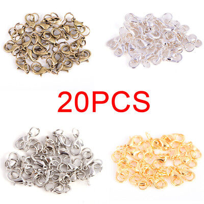 20PC/Set Alloy Lobster Clasps Claw Jewelry Hook Making DIY Necklace Bracelet G$C
