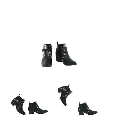 Womens Ladies Ankle Boots Low Mid Block Heels Chelsea Buckle Shoes Sizes 3-8