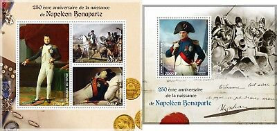 Napoleon Bonaparte France 250Th Anniversary Of Birth Congo 2019 Mnh Stamp Set