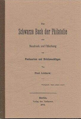 Lietzow Sshwarze Book the Philately or Reprint and Fake v.Stamps