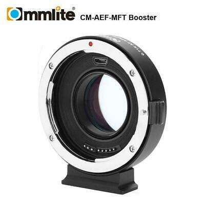 Commlite CM-AEF-MFT Speed Booster 0.71x Auto Focus Lens Adapter for M4/3 cameras