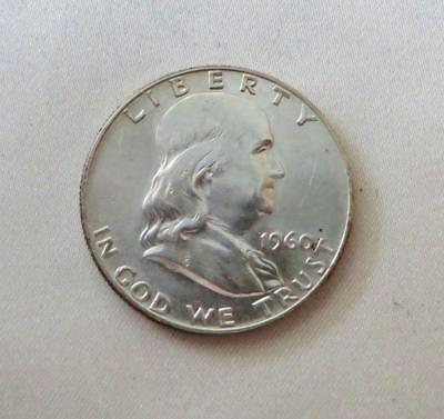 Scarce Date Choice Uncirculated 1960-P 90% Silver Franklin Half Dollar Free Ship