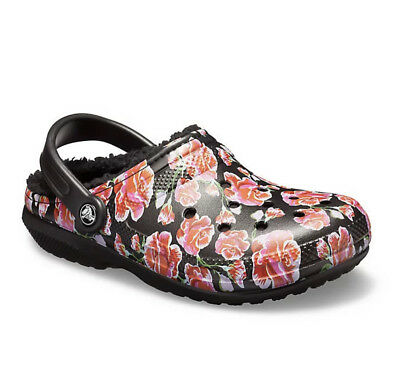 9e40b72e0826 CROCS UNISEX CLASSIC Lined Graphic II Clog Red Black -  40.00