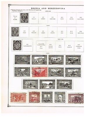 Bosnia and Herzegovina- 1906 to 1917 Stamps  (7) on Scott Album pages
