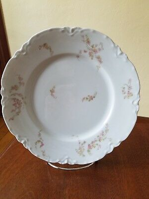 HAVILAND & CO LIMOGES France Schleiger 233 Norma Dinner Plate Pink,Yellow,Green