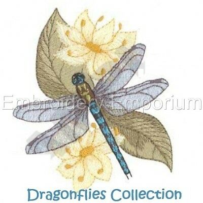 Dragonflies Collection - Machine Embroidery Designs On Cd Or Usb