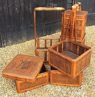 Large 3 Tier Chinese Marriage Basket & Holder With 3 Removable Storage Baskets
