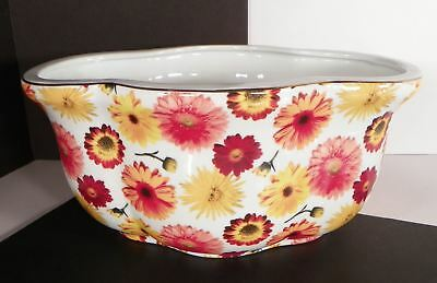 Baum Bros Formalities Floral Chintz Centerpiece Dish Planter Orange Floral 11.5""