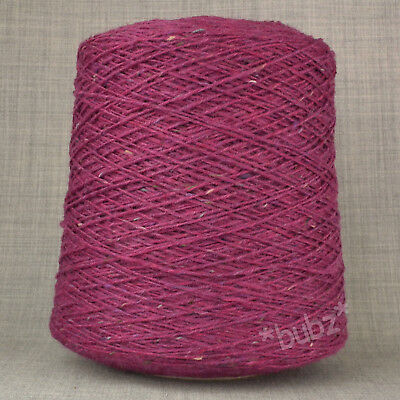 DONEGAL TWEED PURE WOOL DK YARN RUST MULBERRY PINK * 500g CONE * DOUBLE KNITTING