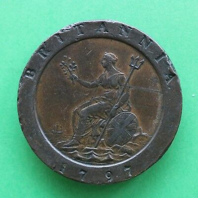 1797 George III Copper Twopence SNo54579