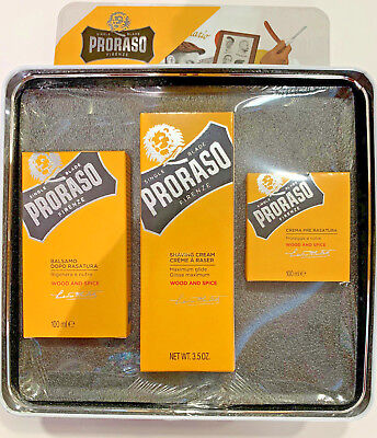 Proraso Kit Barba Pre-Shave 100Ml+ Shaving Cream 100Ml + After Shave Balm 100Ml