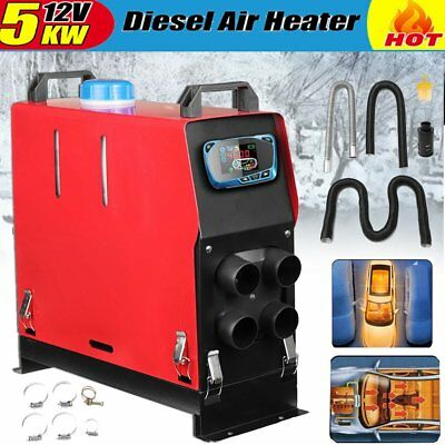 5KW 12V LCD Air Diesel Heater Upgrade Thermostat For Truck Motor-home Boat Ca UW