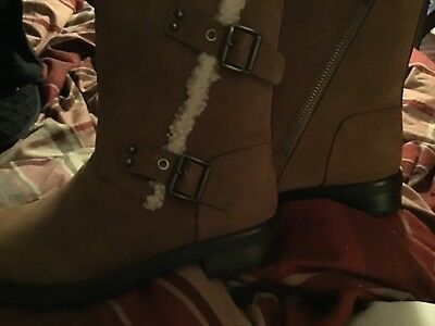 d7b8d0979db NEW UGG WOMENS Niels Water Resistant Moto Boots 1018607 Chestnut Size 9.5  $195