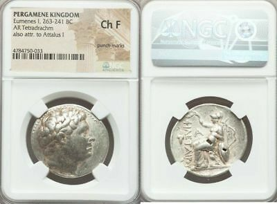 PERGAMENE KINGDOM. Eumenes I (263-241 BC). AR tetradrachm (30mm, 12h) NGC Choice