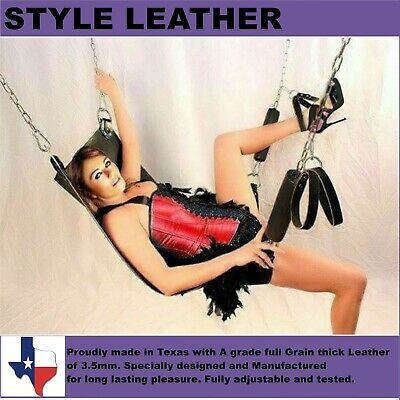 New Brand Genuine Heavy Duty Leather Sex Swing / Sling Adult Play Room Fun SW 50