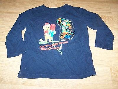 Size 4T Disney Winnie the Pooh & Tigger Holiday T-Shirt Top Does Not Light GUC