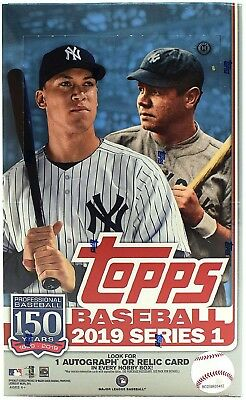 2019 Topps Series 1 Baseball FACTORY SEALED Hobby Box + 1 Silver Pack Free S&H