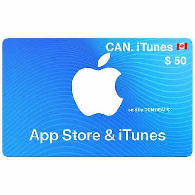 ✅ $50 APP STORE & ITUNES CANADIAN 2 x$25 GIFT CARDS ✅ (E-DELIVERY)