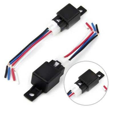 12V Car SPDT Automotive Normally Open Relay DC 3 Wires W/ Harness Socket 120 mA