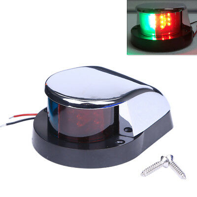 Boat Navigation Bow Front Nav Light Red//Green Chrome
