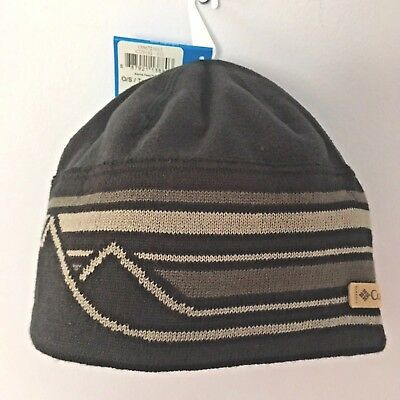 32f092166c31ef COLUMBIA HAT Alpine Pass Beanie Winter Ski Snowboard Skull Cap - Mens  Black/Gray