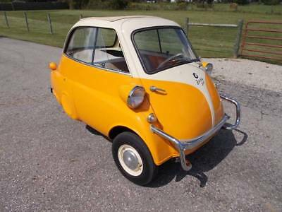 1959 ISETTA 300 -- 1959 BMW ISETTA 300, Yellow, 49k Act. Mi, Orig. Engine, 4-Speed Manual, Restored
