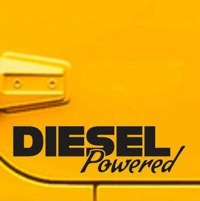 2x diesel powered  sticker vinyl decal for car and others FINISH GLOSSY