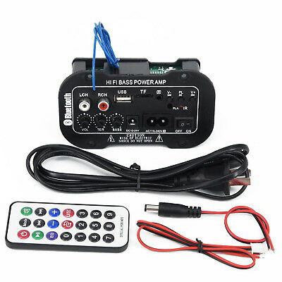 Car Bluetooth Home HiFi Bass Power AMP Stereo Digital Amplifier For All Vehicle
