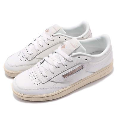 53a4cb15917 Reebok Club C 85 Chalk Rose Gold Paper White Women Classic Casual Shoes  DV3727