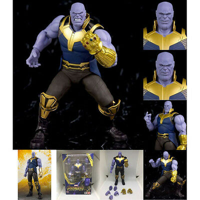 "S.H.Figuarts SHF Marvel Avengers Infinity War Thanos Action Figure Toy 6"" Boxed"