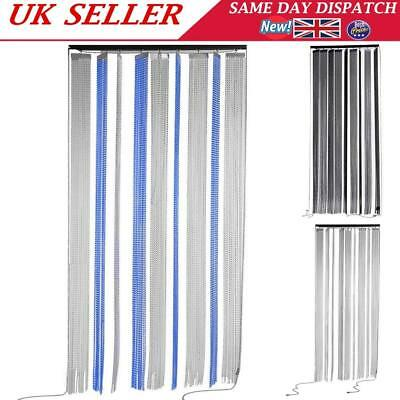 Metal Chain Link Insect Fly Door Curtain Blinds Screen Pest Control with Rollers