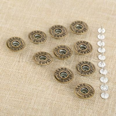 20mm Bronze Random Pattern 50pcs Shake Head Jeans Button &Nails for Leather Bags