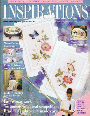 INSPIRATIONS MAGAZINE issue 30 pattern attached VGC BRITISH BLUE CAT BLANKET