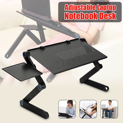 Foldable Laptop Notebook Computer Table Stand Bed Sofa Tray Adjustable AU Stock