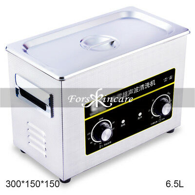 Mini Ultrasonic Cleaner Professional Machine Cleaning Jewelry Tank 6.5L