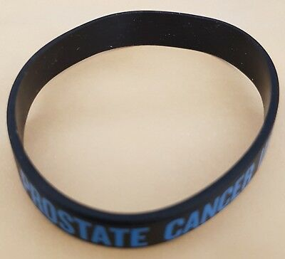 Brand New Prostate Cancer UK RAISING AWARENESS (MEN UNITED) Silicone Wristband