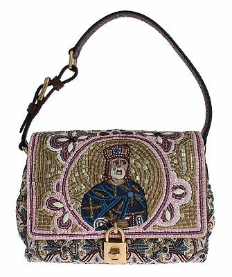 SIG18246 Dolce   Gabbana MISS BONITA Knight King Python Hand Shoulder Bag f7ad9722fd