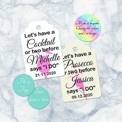 Personalised Baby Shower Favour Thank You Tags Baby Elephant Design & Ribbon x15