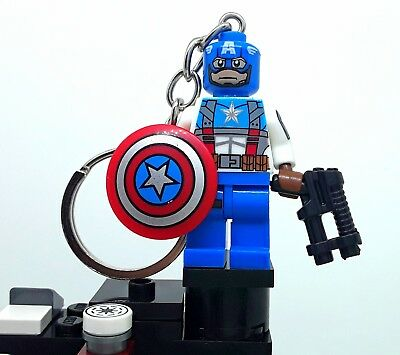 Captain America 111  Keychain and a lovely box added lego movie VALENTINE, TIME
