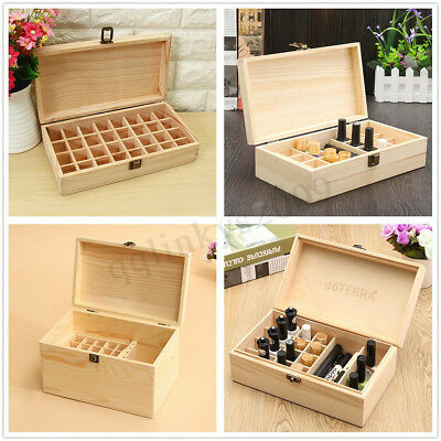 Meco Aromatherapy Essential Oil Bottle Wooden Box Organizer Wood Storage