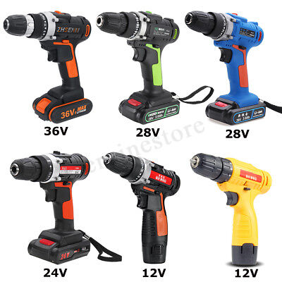 12V/24V/28V/36V Heavy Duty Electric Impact Wrench Gun Set Cordless Drill Battery