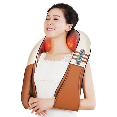 Electrical Shoulder Body Massage Shiatsu Back Neck Infrared Heated Massagem Home