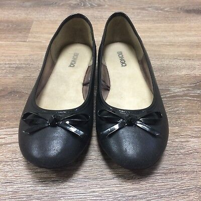 16769c438fe BONGO Black Ballet Shoes Divinity Bow Front Fabric Uppers Flats Womens Size  8M
